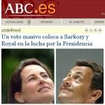 Sarkozy and Royal illuminated by God