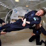 Hawking's weightless flight