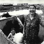 Anatoly Rahimbaev, Bathing, Aral Sea, 1990.