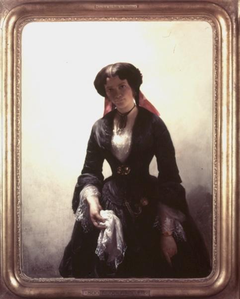 Die Schwester des Künstlers, Rudolf Koller, late 1800s.