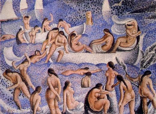 Bathers of Es Llaner, 1923